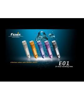 Linternas Fénix E01 13 lumens Led Nichia. Color azul