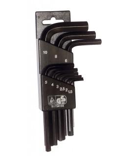 SUPER EGO Juego de llaves Allen cortas 1,5-10 mm