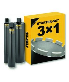 REMS 3 Coronas de perforacion UDKB Set 62-82-132
