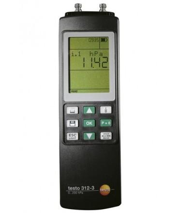 Testo manómetro hasta 300/6000 hPa testo 312-3