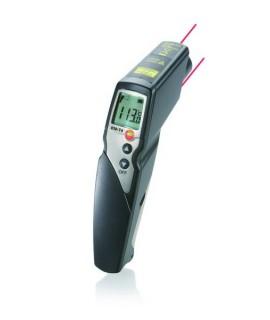 Testo Termómetro por infrarrojos, indicador 2 punteros láser testo 830-T4