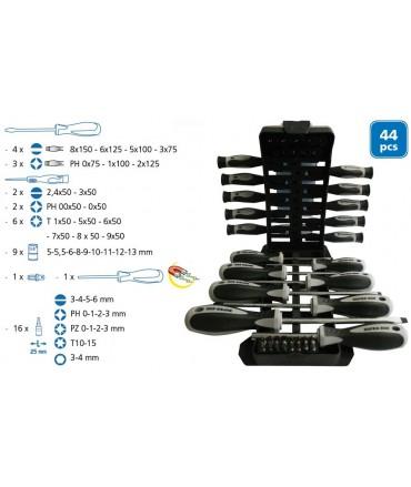 SUPER EGO Set de destornilladores, puntas y llaves de vaso