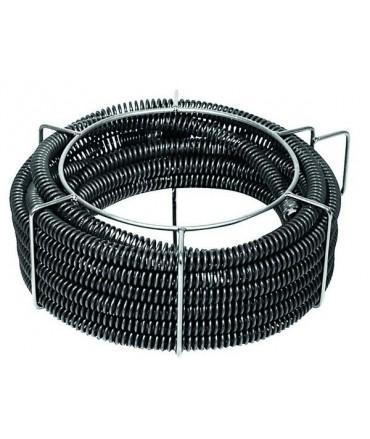 REMS 5 Espirales desatascadoras de tubo con alma de plástico 22 × 4,5 m