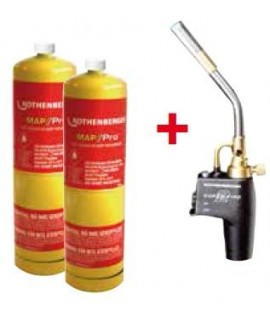 SUPERFIRE 2 Set soplete Super Fire 2 + 2 botellas Gas Mapp US