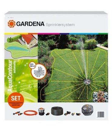 Set completo con aspersor emergente AquaContour automatic Gardena
