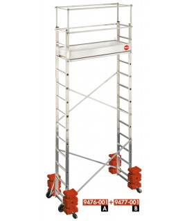 Andamio-escalera móvil - aluminio - ProfiStep® Multi Base