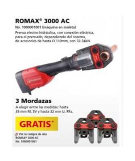 ROMAX 3000 AC prensa electrohidráulica + 3 Mordazas GRATIS