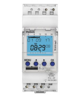 TR 610 top3 Interruptor horario digitales 2 modulos Theben
