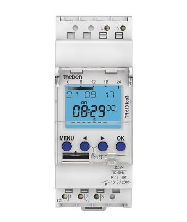 TR 610 top3 Interruptor horario digitales 2 modulos Theben