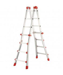 Escalera de Aluminio Telescópica Multiposicion 4 Hailo