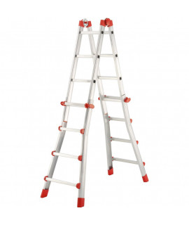 Escalera de Aluminio Telescópica Multiposicion 5 Hailo