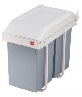 Cubo de reciclaje doble integrado 2x15 litros Multi-Box