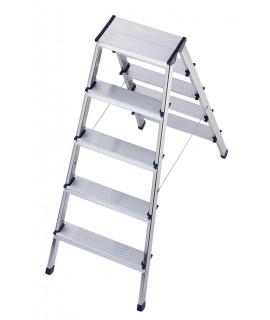 Escalera de aluminio de tijera doble L90