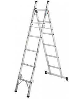 Escalera de aluminio de tijera doble L80