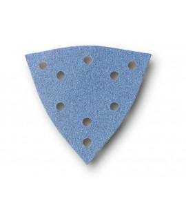 FEIN Hojas de lija triangular grande perforadas de circonio