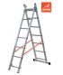 Escalera de 2 tramos con estabilizador recto 9 peldaños Gierre