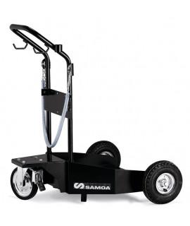 Carro para transporte bidones de 205 l con ruedas neumáticas SAMOA