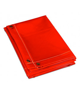 Pantalla protectora separadora roja