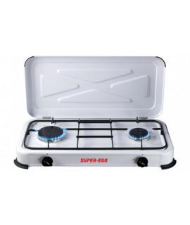 Cocina Portátil 2 fuegos Super Ego