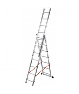 Escalera de 3 tramos con estabilizador recto 7 peldaños Gierre