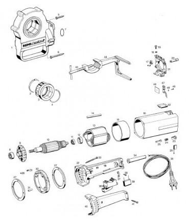 REMS Cuerpo cabezal roscar M40x1,5