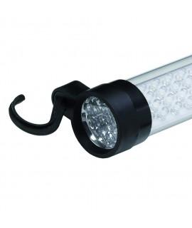 BACHMANN Lámpara portatil 60+17 LED función linterna, 2x soporte magn., recarg, IP20